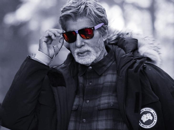 हाड़ कंपा देने वाली ठंड में काम कर रहे अमिताभ बच्चन