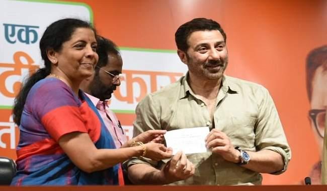 सनी देओल ने राजनीति में रखा कदम, गुरदासपुर से चुनाव मैदान में उतरे