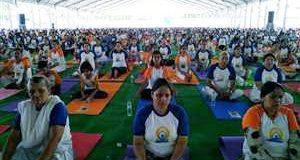 मुख्यमंत्री ने किया योग शिविर का उद्घाटन, भारी संख्या में लोगों ने की शिरकत