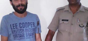 नशे में धुत बाईक सवार ने पुलिसकर्मी को मारी टक्कर